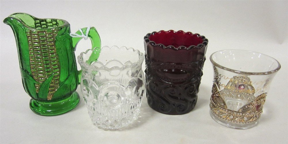 Antique glass toothpick holders