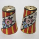 Pair of Salt & Pepper Shakers - Japanese Luster Ware