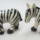 Pair of Salt & Pepper Shakers - Zebras
