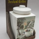 Instant Coffee Porcelain jar