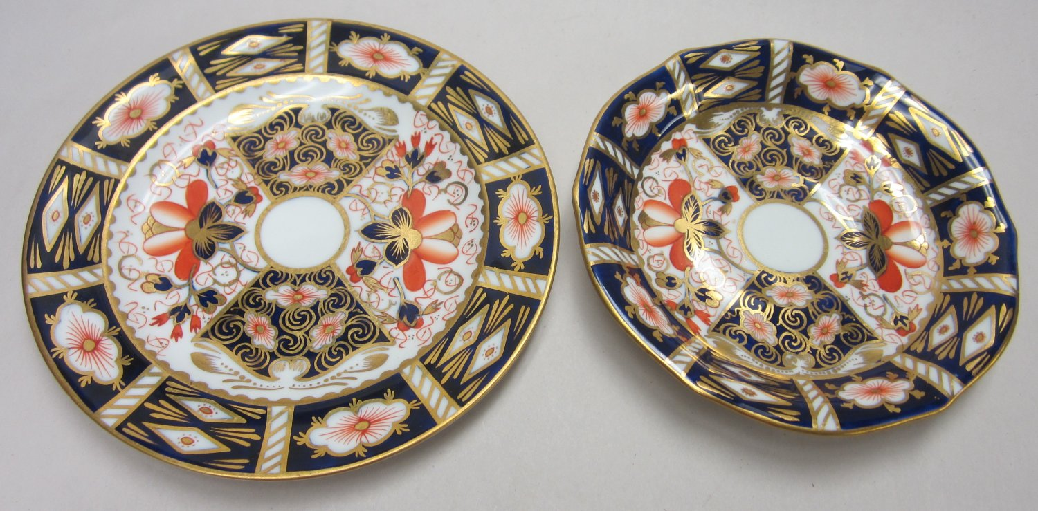Royal Crown Derby Imari plate and saucer
