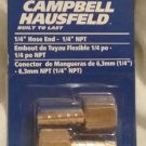 "CAMPBELL HAUSFELD 1/4"" HOSE END - 1/4"" NPT MP3209"