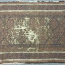 Distressed hand made rug.  Wool