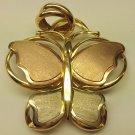 Italian gold butterfly pendant
