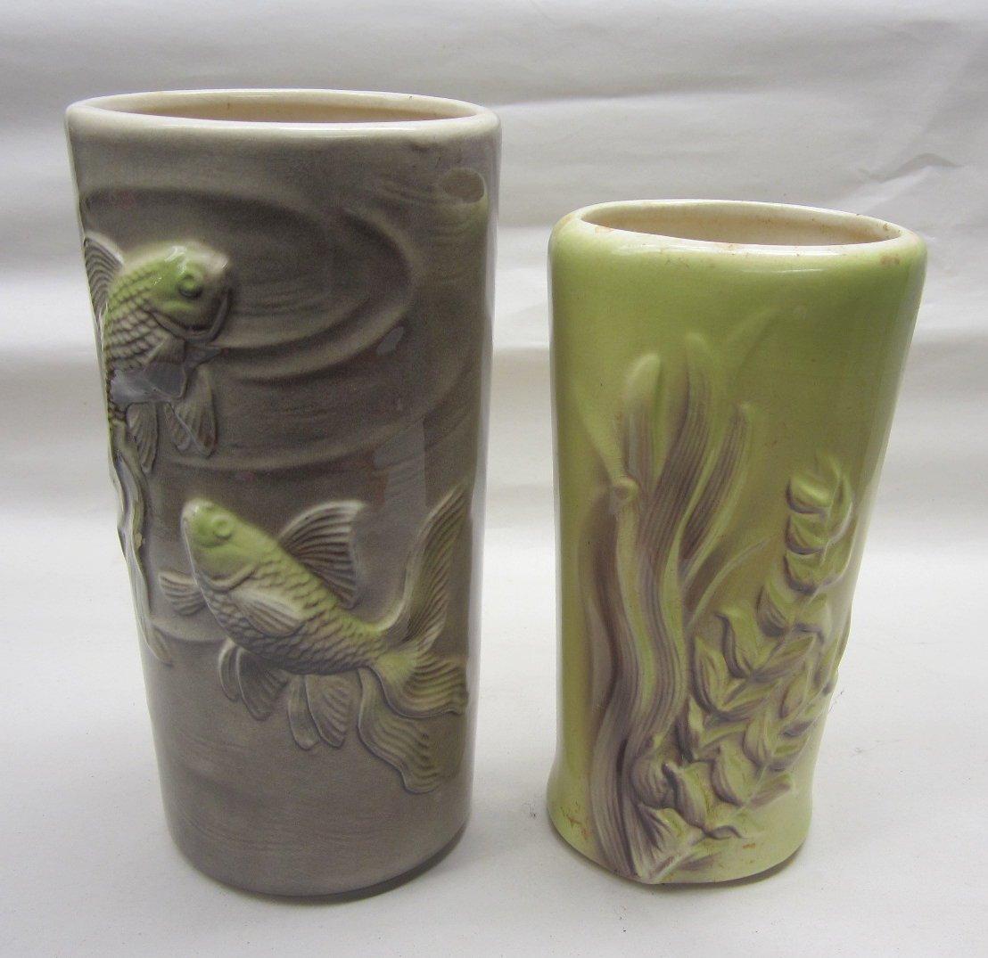 Royal Copley pottery Koi fish vase other