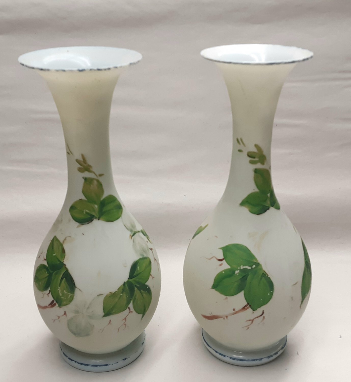 Pair of Bristol Glass Vases