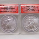 AMERICAN SILVER EAGLES ANACS MS70