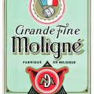 Set of Four Matching 1940s GRANDE FINE MOLIGNE Spirit Bottle Labels