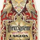 Pair of Matching 1920s L'AIGLON Spirit Bottle Labels