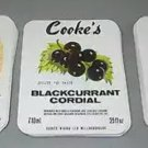 Set of Three Assorted 1950s COOKE'S Soda Bottle Labels