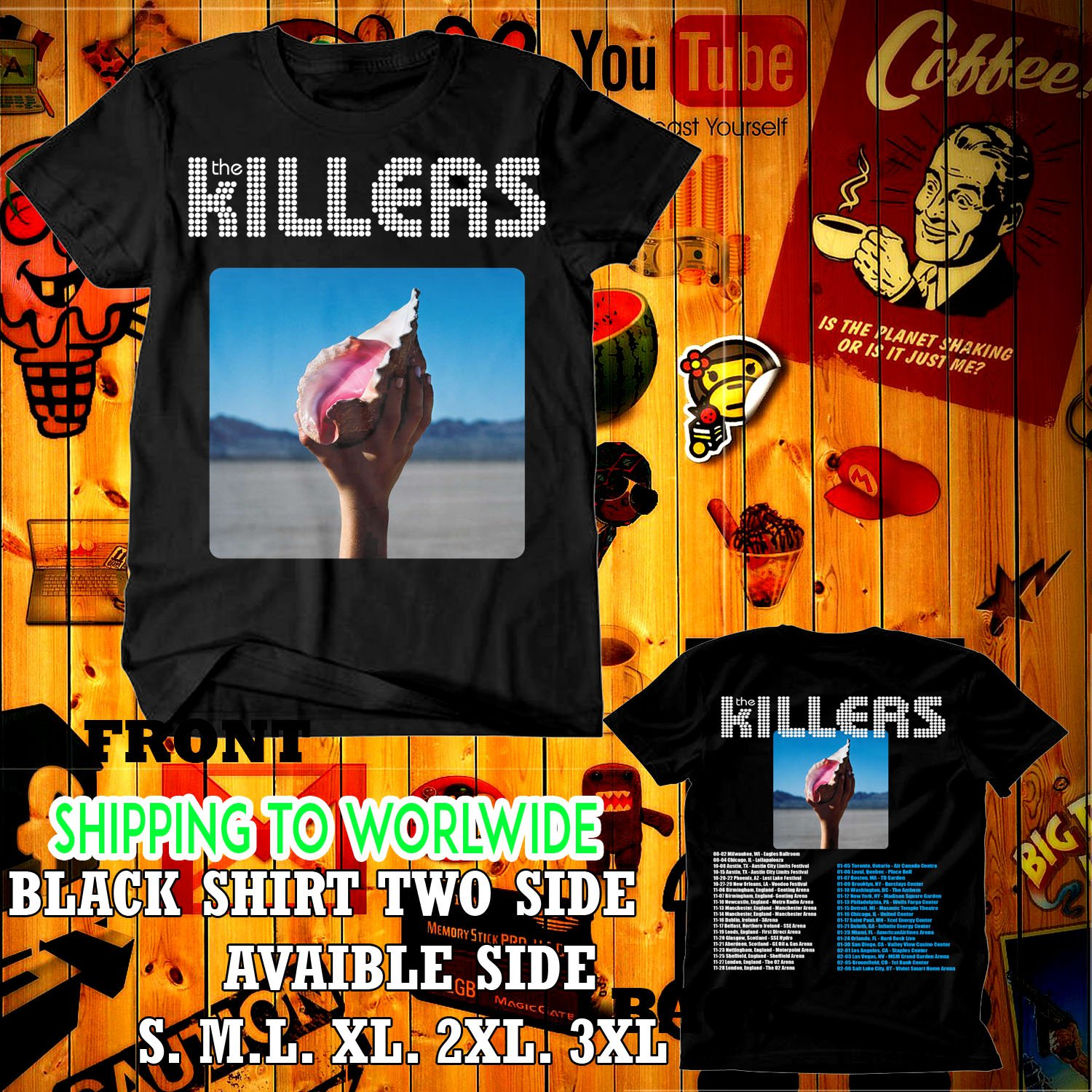 the killers tour dates 2017-18 black two side code 04d