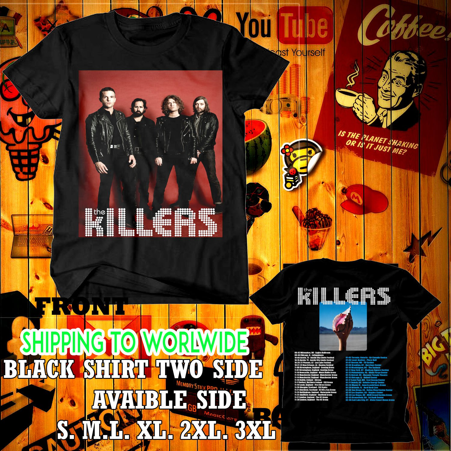 the killers tour dates 2017-18 black two side code 05e