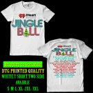 i heart radio.jingle ball tour dates 2017-18 white tshirt.two side.s-2xl code a2
