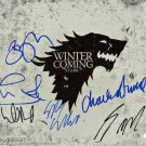 Game Of Thrones Cast (6) Autographed Signed 11X14 Photo PSA