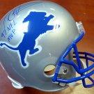 Barry Sanders Autographed Signed Full Size Detroit Lions Helmet PSA