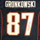 Rob Gronkowski Autographed Signed New England Patriots Jersey BECKETT COA