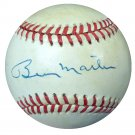 Billy Martin New York Yankees Signed Autographed AL Baseball PSA