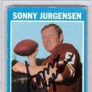 Sonny Jurgensen Washington Redskins Signed Autographed  1971 Topps Card  PSA