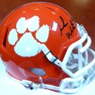Deshaun Watson Autographed Signed Clemson Tigers  Speed Mini Helmet BECKETT