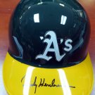 Rickey Henderson Signed Autographed Oakland A's Batting Helmet STEINER