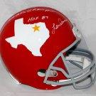 Len Dawson Chiefs Signed Autographed Dallas Texans Full Size Helmet JSA
