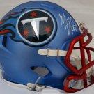 Marcus Mariota Signed Autographed Tennessee Titans Blue Blaze Speed Mini Helmet Beckett