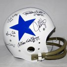 Doomsday Defense White Jones Lilly +3 Autographed Dallas Cowboys FS Helmet JSA