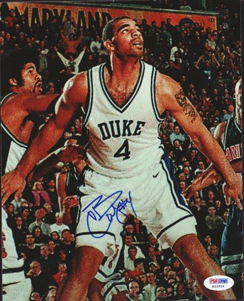 Carlos Boozer Signed Autographed 8x10 Duke Blue Devils Photo PSA