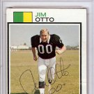 Jim Otto Oakland Raiders Signed Autographed 1973 Topps Card PSA