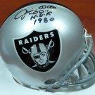 Jim Otto Signed Autographed Oakland Raiders Mini Helmet BECKETT