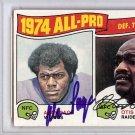 Alan Page & Otis Sistrunk  Vikings Raiders Signed Autographed 1975 Topps Card PSA