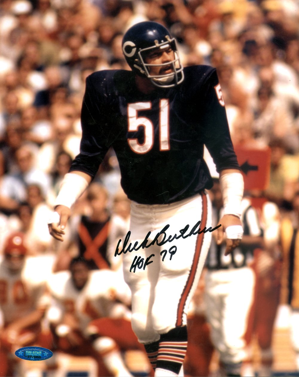 Dick Butkus Chicago Bears Autographed Signed  8x10 Photo TRISTAR