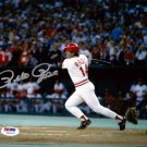Pete Rose Cincinnati Reds Signed Autographed 8x10 Photo PSA