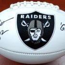Dave Casper Signed Autographed Oakland Raiders Logo Football BECKETT