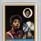 Dr J Julius Erving New York Nets Signed Autographed 1973 Topps Card PSA