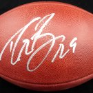 Drew Brees New Orleans Saints Autographed Signed NFL Leather Football BECKETT COA