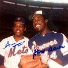 Hank Aaron Willie Mays Dual Autographed Signed 8x10 Photo BECKETT COA