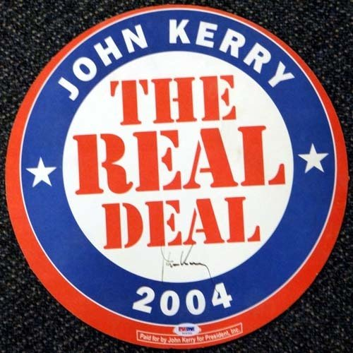 John Kerry Autographed Signed 2004 Political Sign PSA/DNA