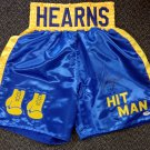 Thomas Hit Man Hearns Autographed Signed Blue Boxing Trunks PSA
