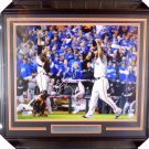 Madison Bumgarner & Buster Posey Framed Autographed Signed 16x24 2014 World Series Photo BECKETT