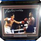 Sugar Ray Leonard & Roberto Duran Signed Autographed Framed 16x20 Photo PSA
