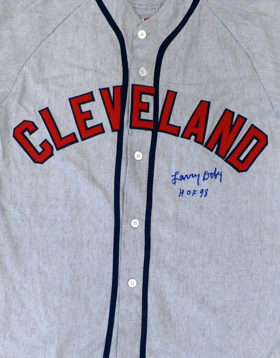 Larry Doby Signed Autographed Cleveland Indians Jersey BECKETT COA