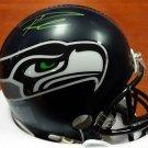 Russell Wilson Signed Autographed Seattle Seahawks Mini Helmet RW COA
