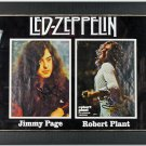 Jimmy Page and Robert Plant Autographed Signed Framed Led Zeppelin Photo Display PSA/DNA