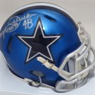 Daryl Moose Johnston Autographed Signed Dallas Cowboys Blue Blaze Speed Mini Helmet BECKETT