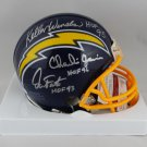 Fouts Winslow & Joiner Autographed Signed San Diego Chargers Mini Helmet JSA