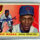 Ernie Banks Chicago Cubs Signed Autographed 1955 Topps Card BECKETT