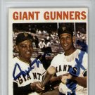 Willie Mays & Orlando Cepeda San Francisco Giants Signed Autographed 1964 Topps Card PSA