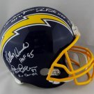 Fouts Winslow Jefferson & Joiner Autographed Signed San Diego Chargers Full Size Helmet JSA