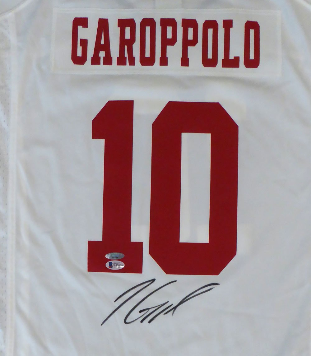 Jimmy Garoppolo Autographed Signed San Francisco 49ers Nike Jersey BECKETT